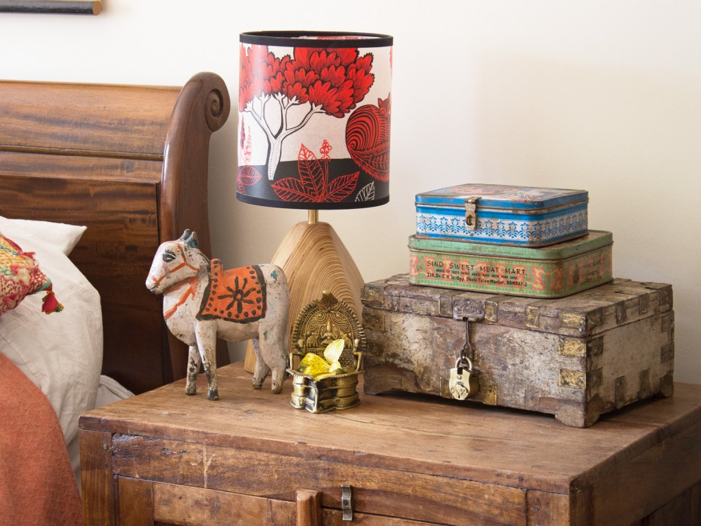 Old wooden boxes and tins