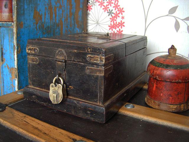 old box with padlock