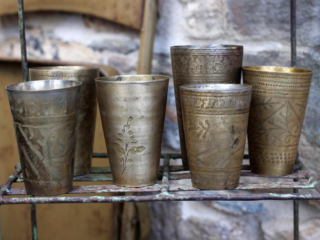 original brass lassi cups glasses