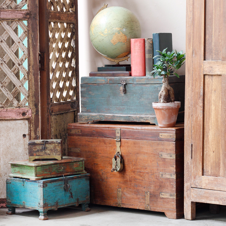 vintage colonial style with old chests