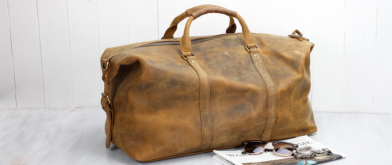 leather weekender bag for men