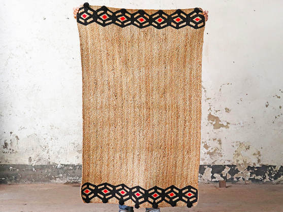 our handwoven jute rugs can be used both outside and indoors