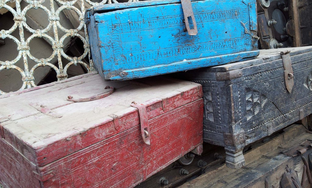 Old Shekawati boxes from Rajasthan
