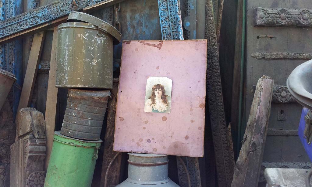 Old metal storage tins