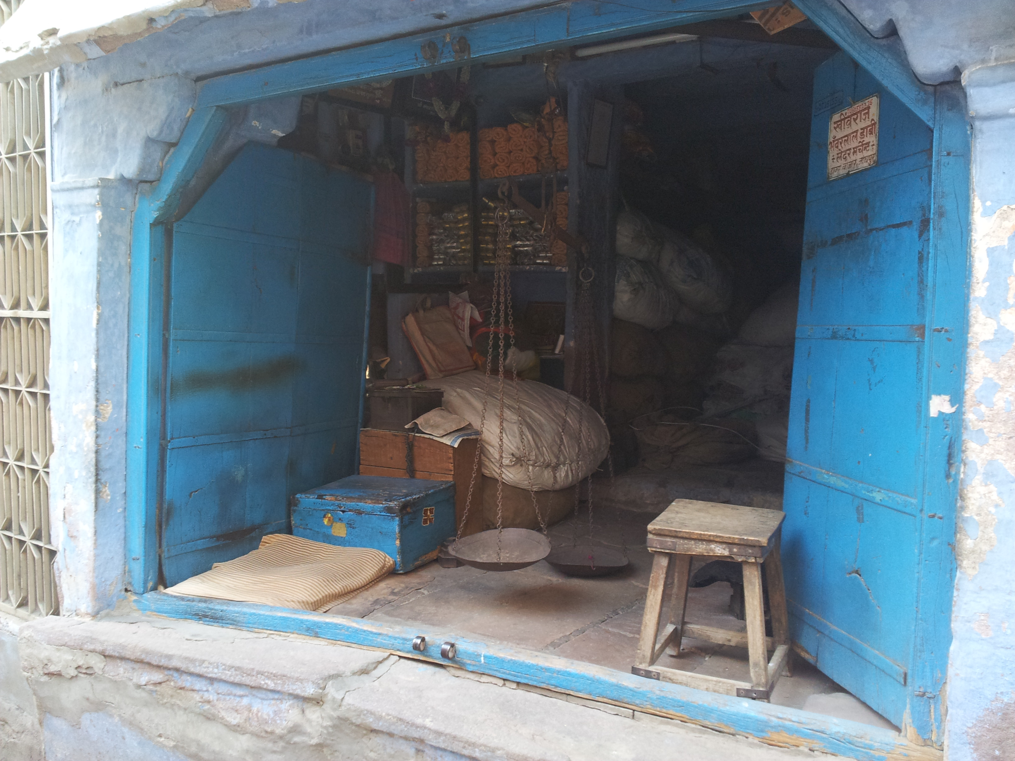 Old store in Sadar Market Jodhpur India