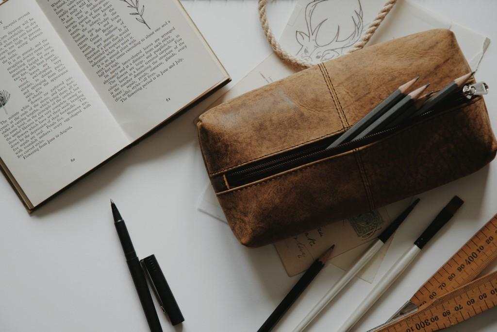 Scaramanga Leather Pencil Case