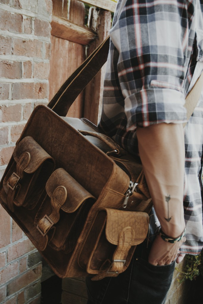 Scaramanga Leather Flight Bag