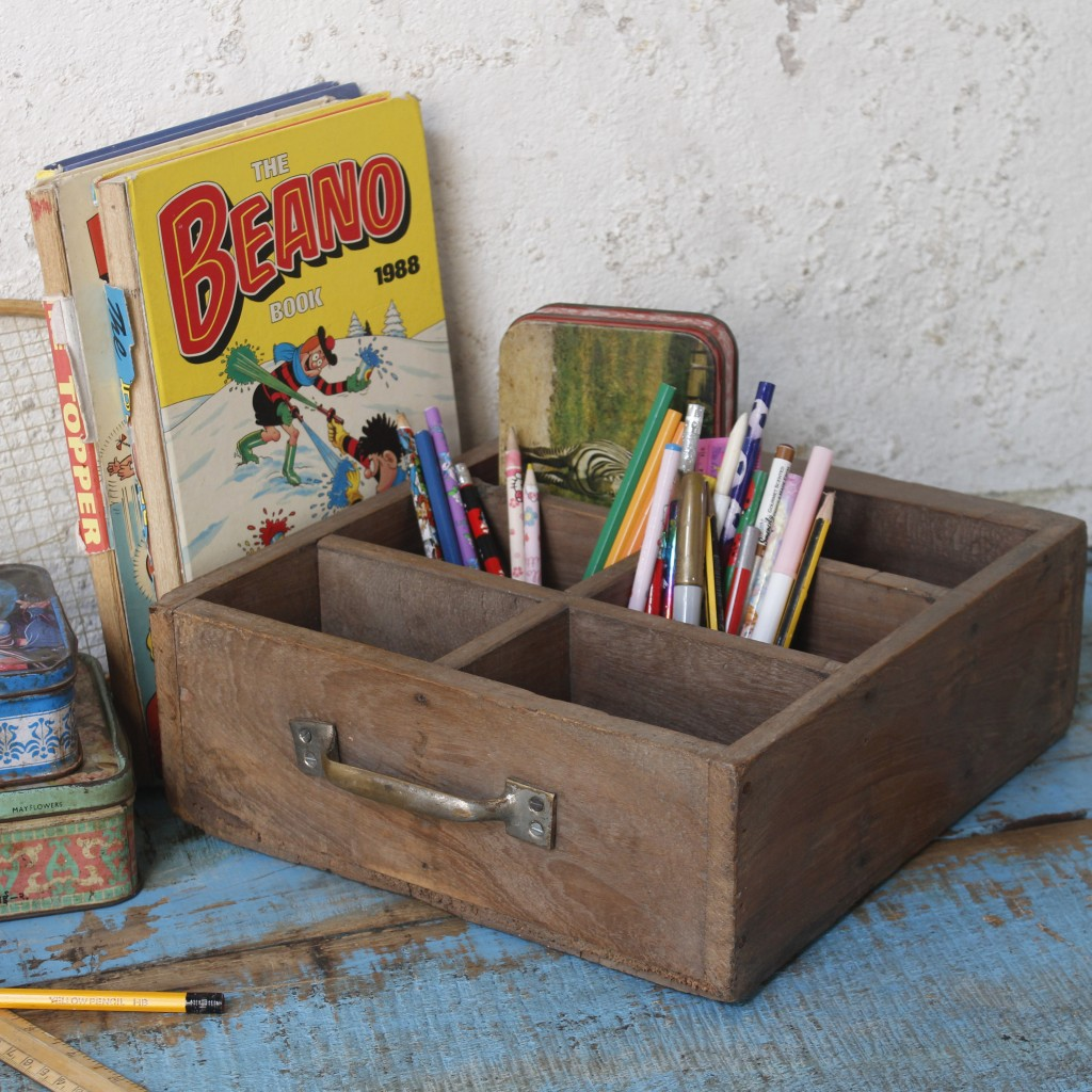 upcycled wooden drawer