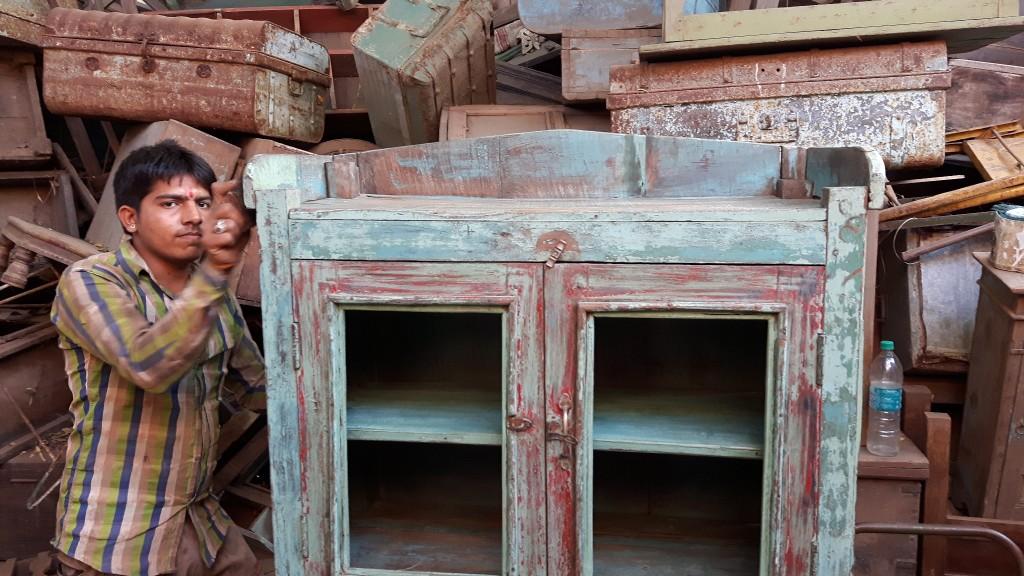 restoring a vinatge cupboard. We always ensure that the original colour is kept as we find it