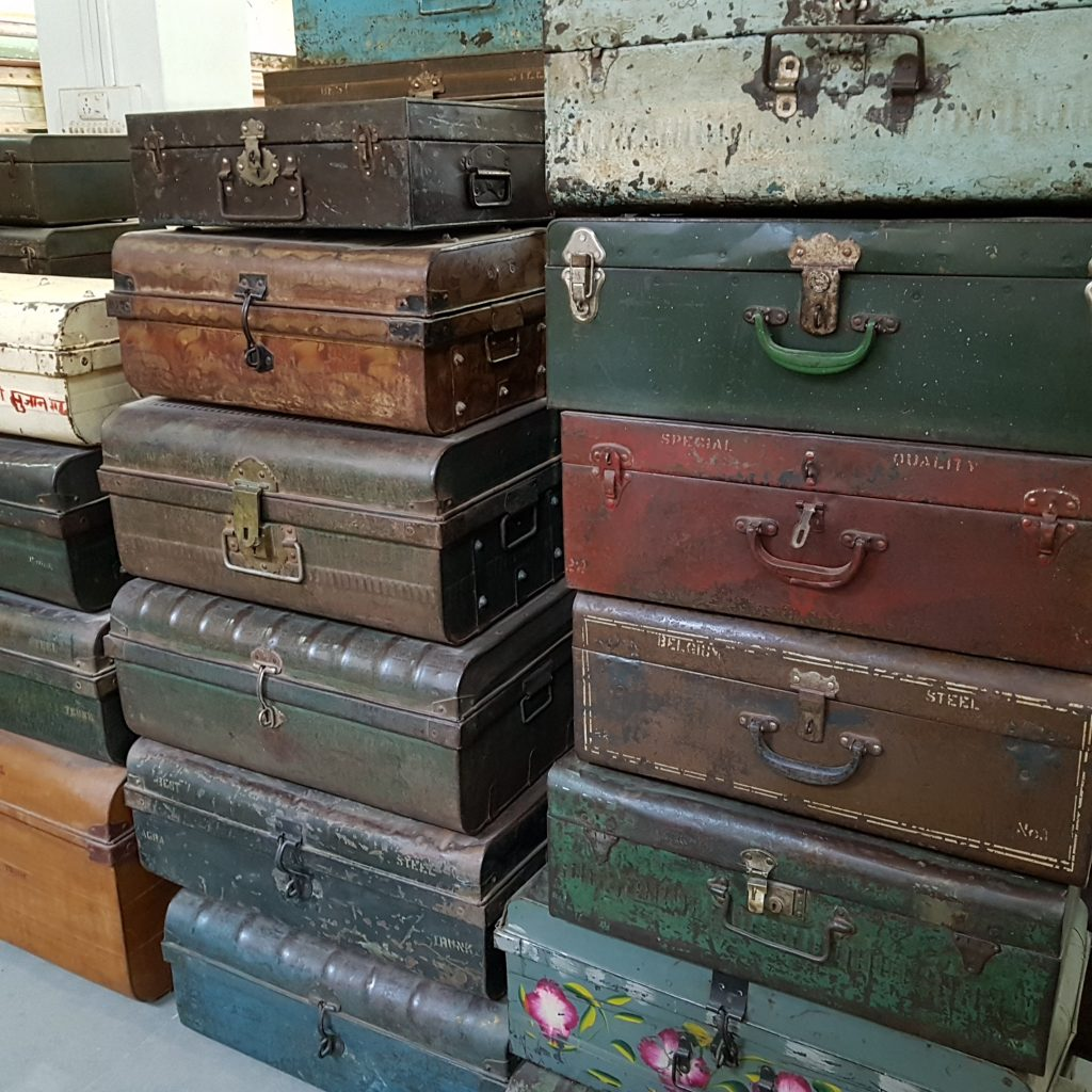Assortment of Vintage Trunks and Suitcases