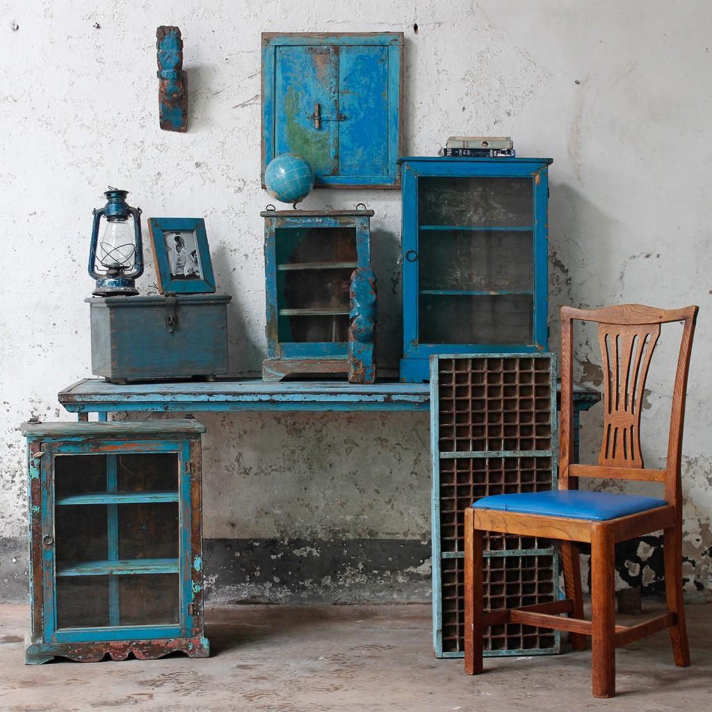 scaramanga blue vintage furniture