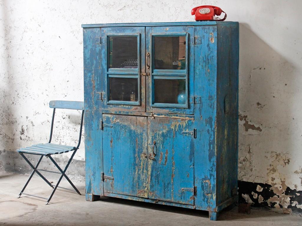 vintage blue wardrobe