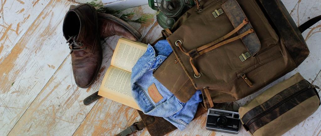 canvas backpack rucksack bag
