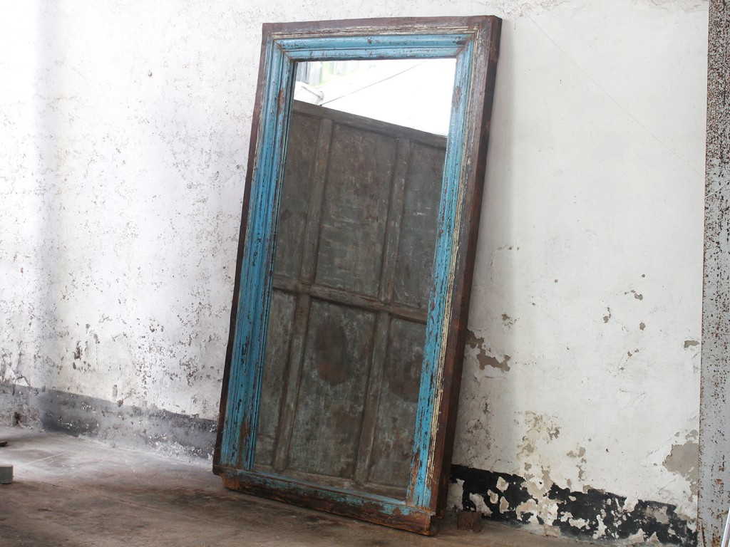 blue leaning mirror from Scaramanga's vintage furniture collection