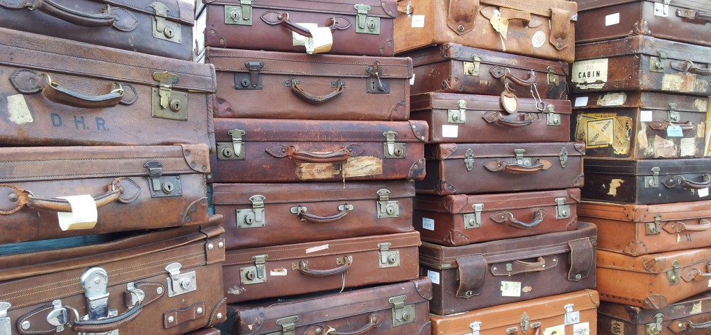 Some of the many leather suitcases we have sold
