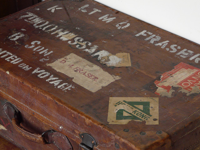 A suitcase use as a military case