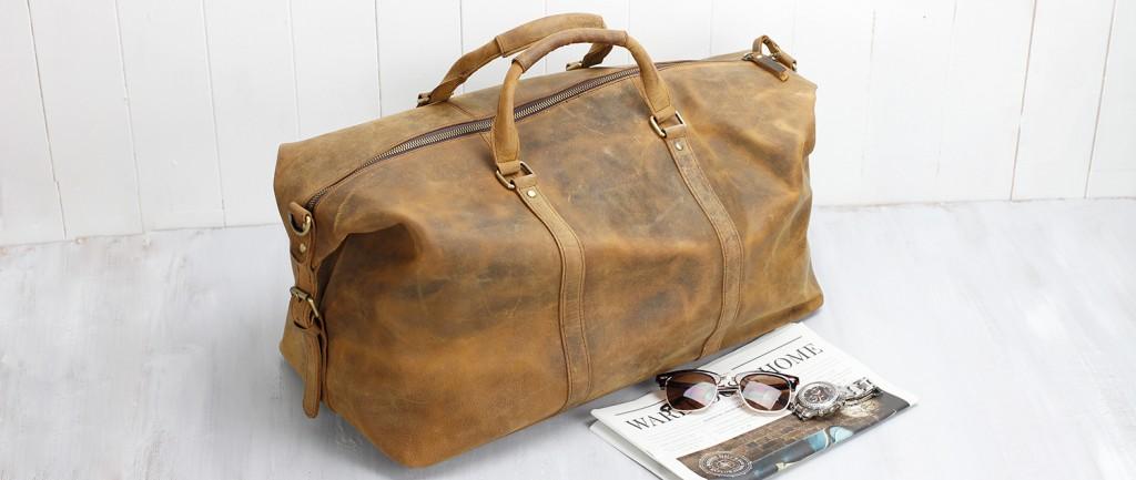 leather weekender women's bag