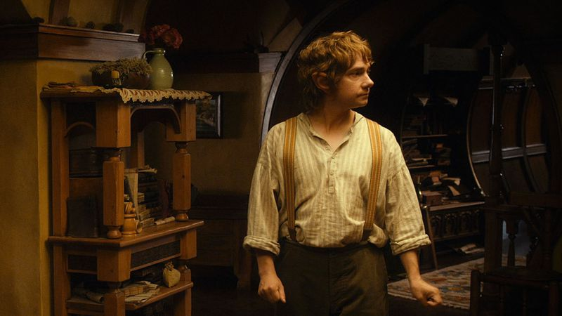 Bilbo's house. Our padlocks were used on chests and cabinets in his house.
