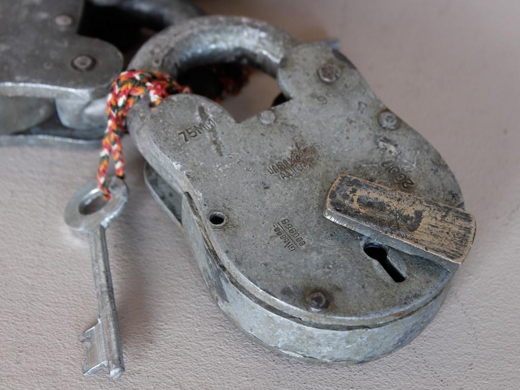 metal vintage padlock