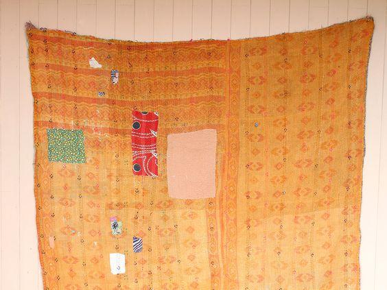 Vintage Kantha Blanket by Scaramanga