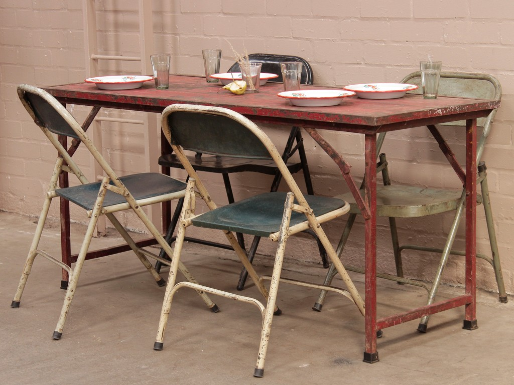 old folding table