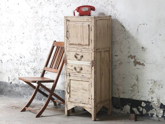 Shabby Chic White Cabinet Scaramang