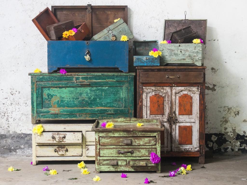 colourful vintage furniture