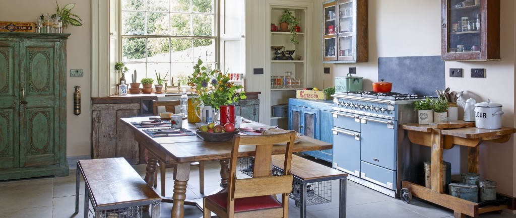 Carl and Emma's eclectic vintage modern kitchen