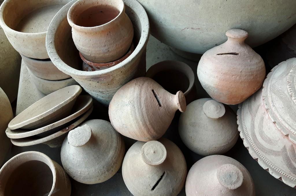 terracotta money pots