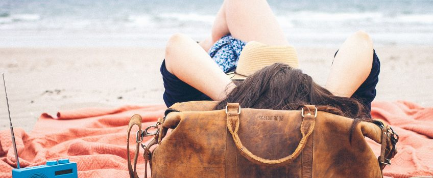 Leather Bags at the Beach | By Scaramanga