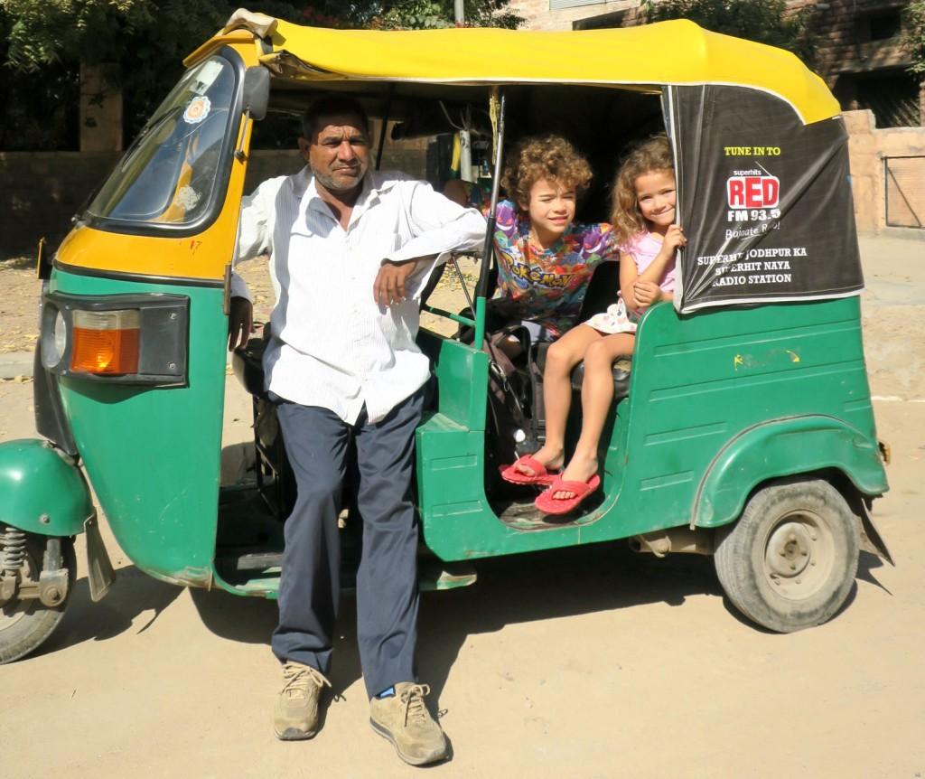 Very exciting riding around Jodhpur in an auto rickshaw