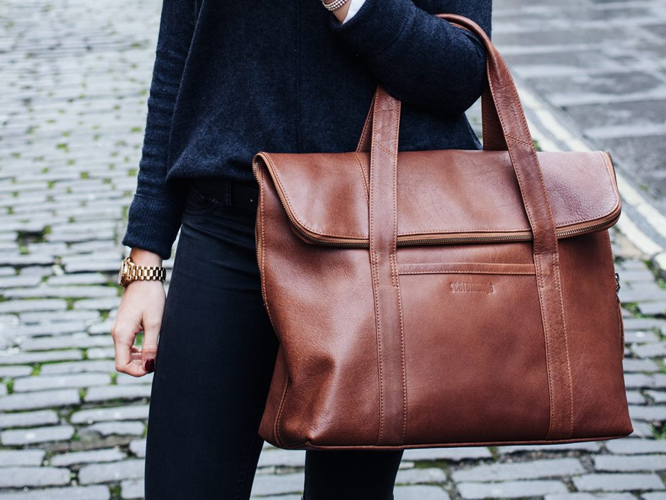 Leather Fold Over bag