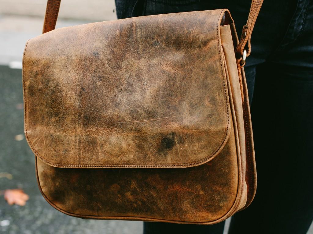 new leather saddle bag