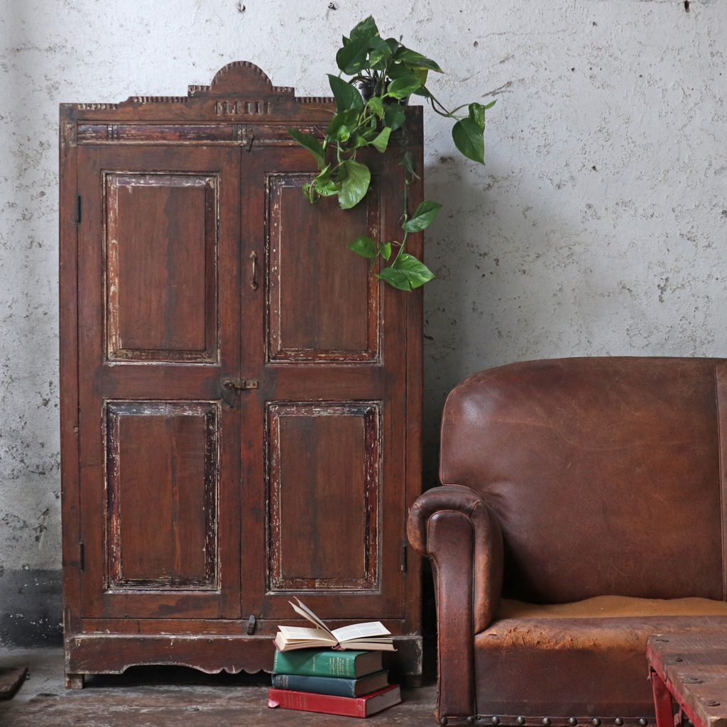 dark furniture - large dark armoire cupboard