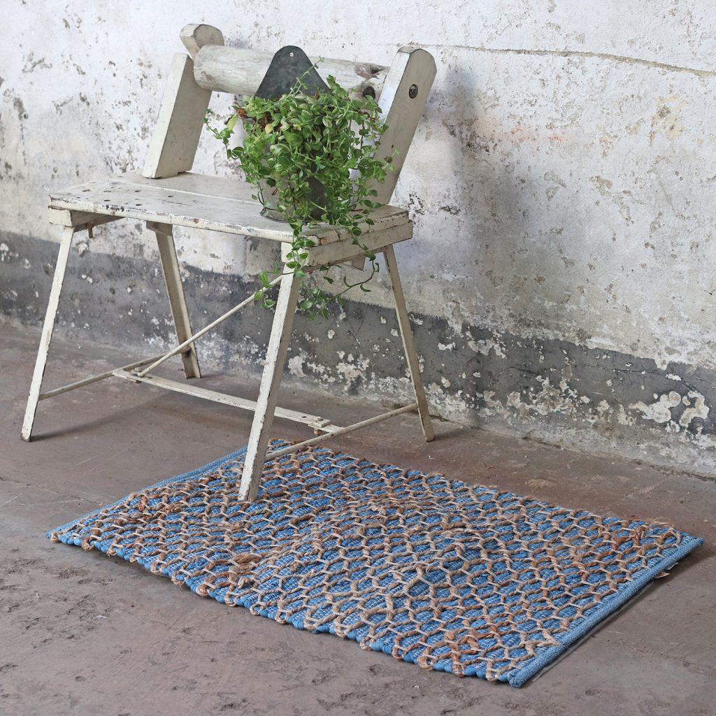 Spring Home Decor blue rug