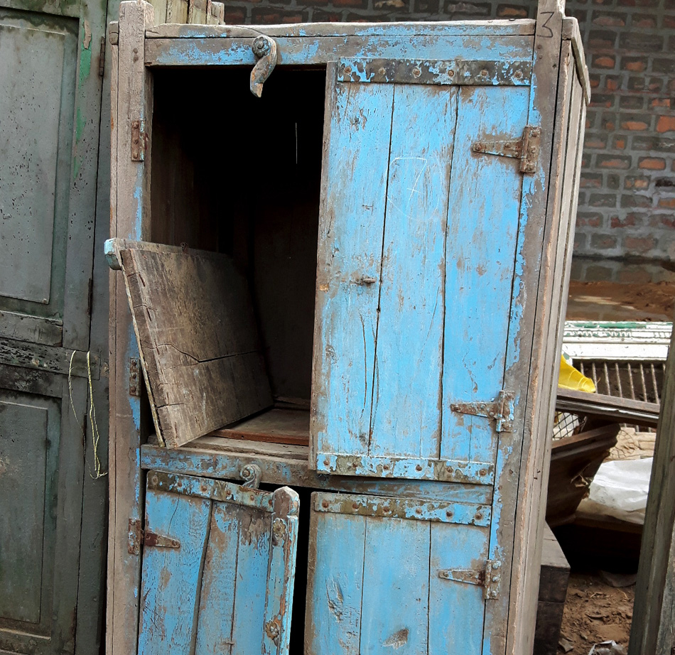 vintage wardrobe waiting to be restored
