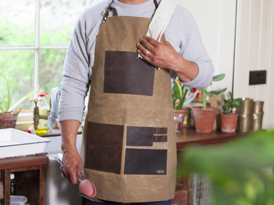 leather & canvas apron