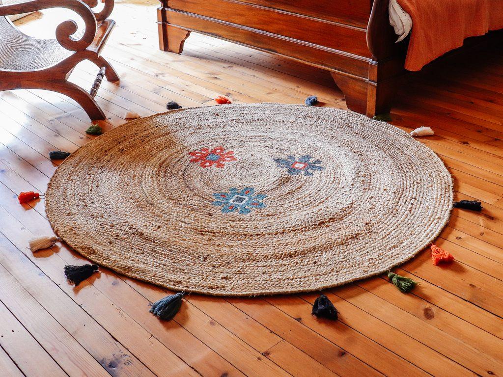 colourful jute rug