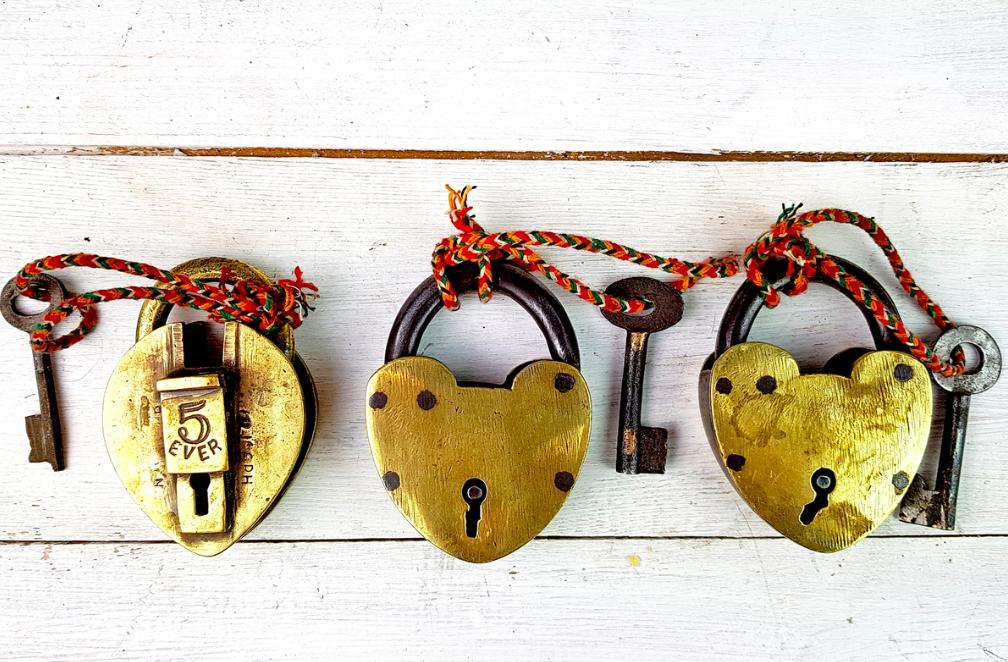 brass love locks
