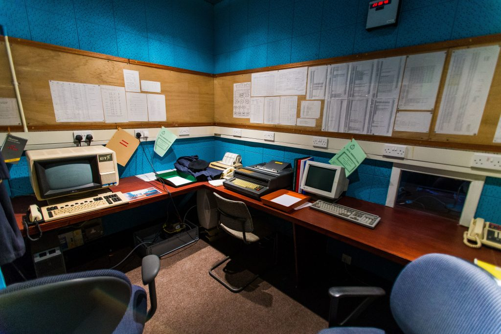 Dundee nuclear bunker with communications equipment
