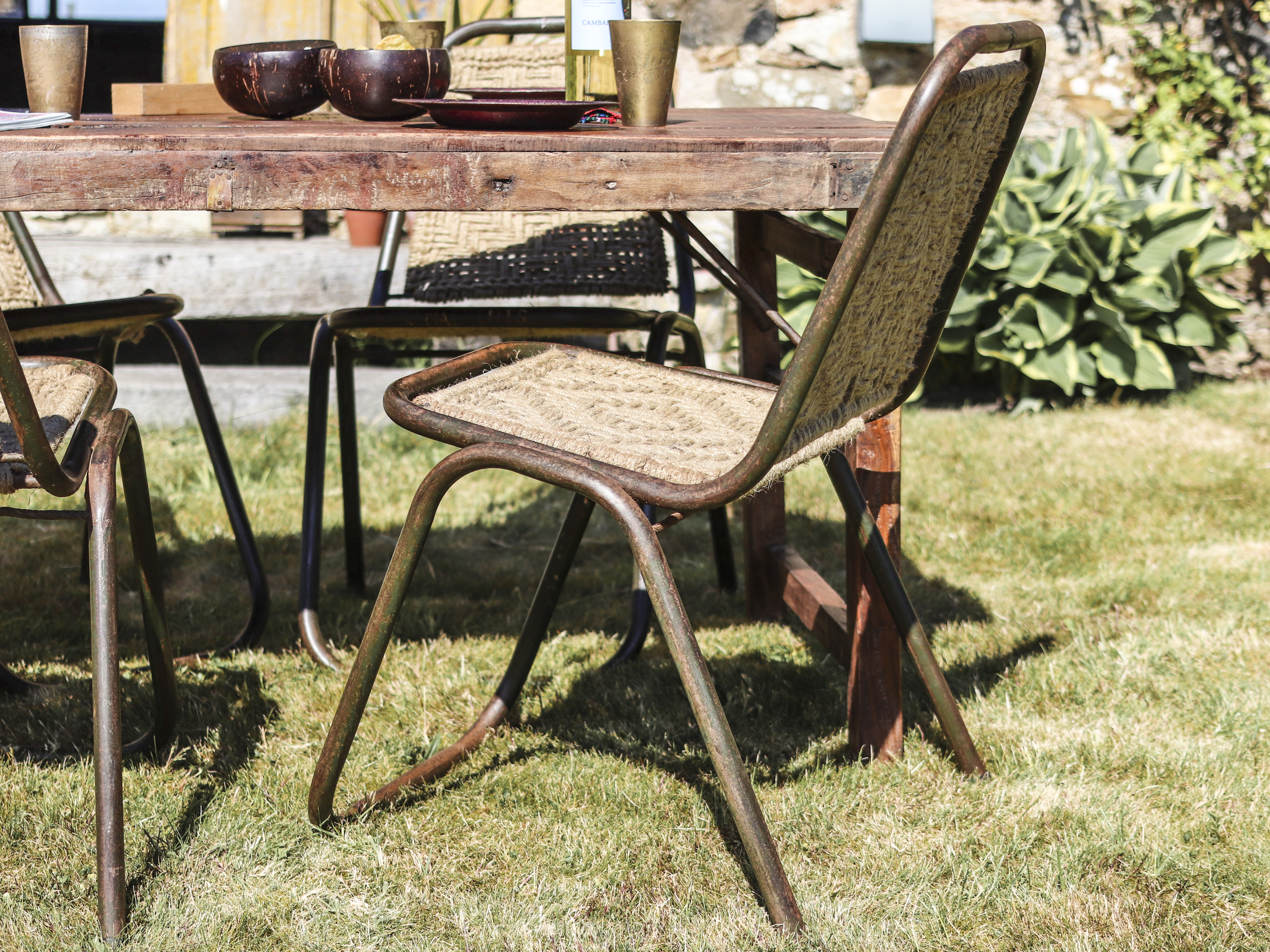 Bring some texture outside with these beautiful woven chairs