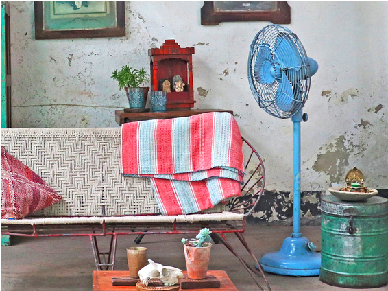 Decorative old Indian fan