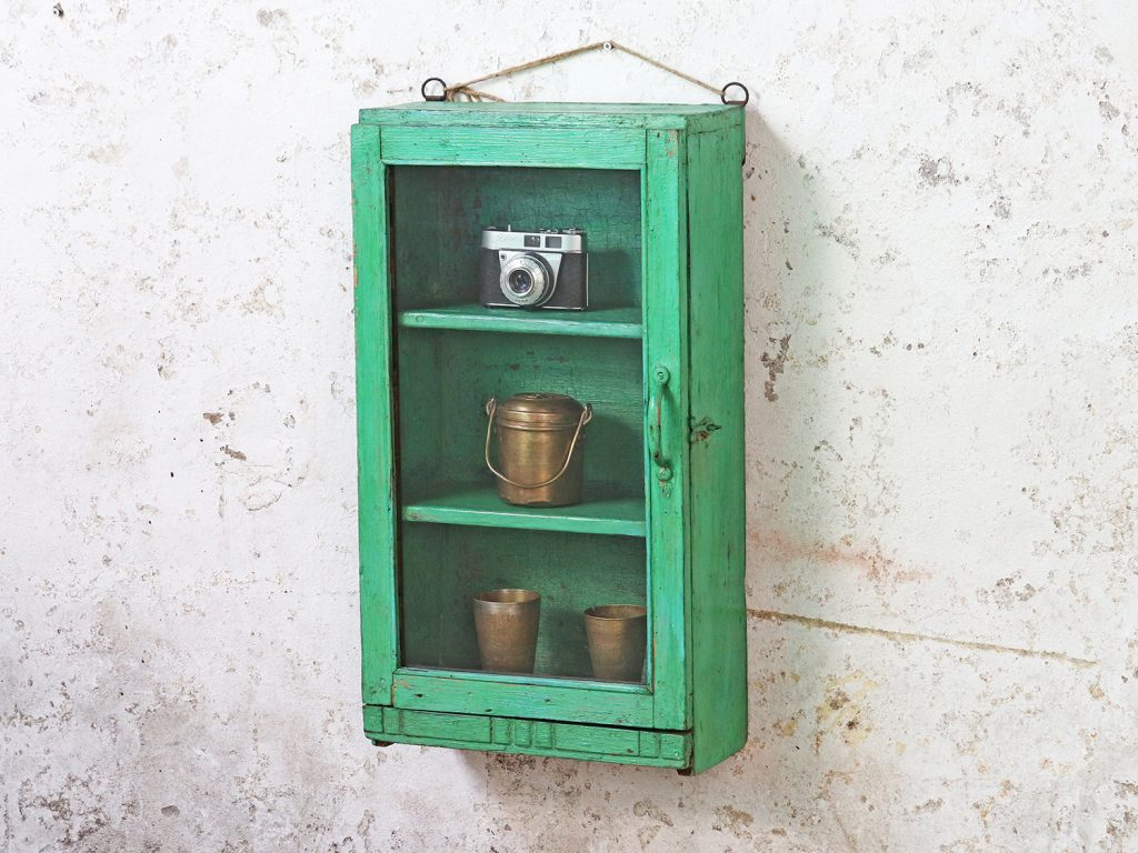 Green colour wall cabinet
