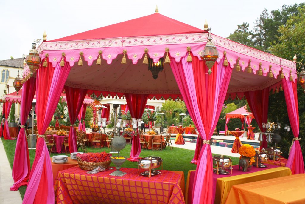 Indian wedding tent tables