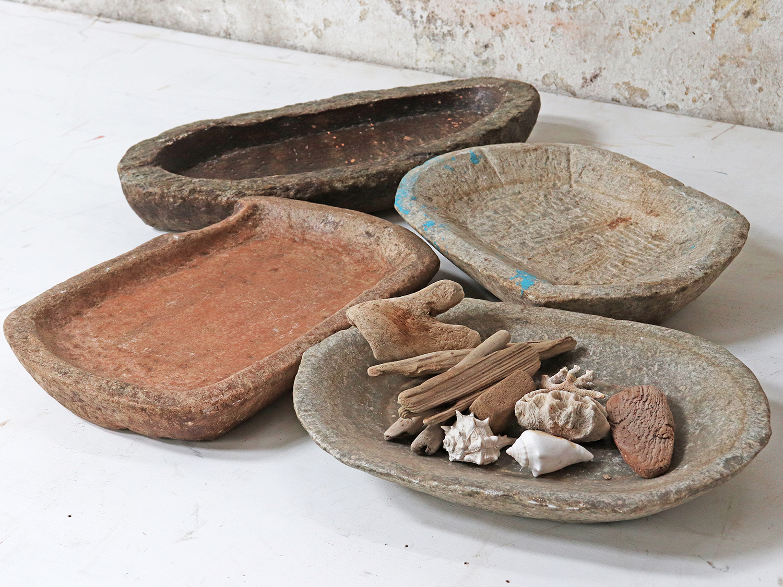 Cottagecore edit: Old stone bowls