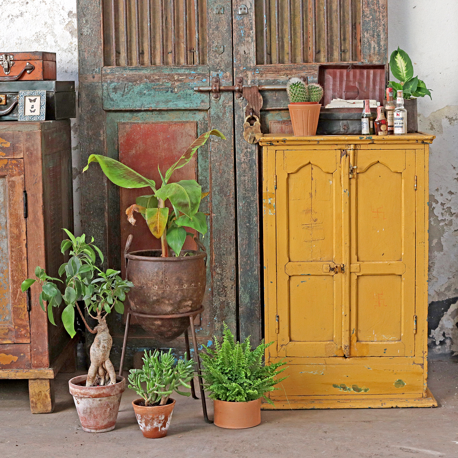 Add a Pop of Colour to your Autumn Interiors with Scaramanga's Colourful Vintage Cabinet in Mustard