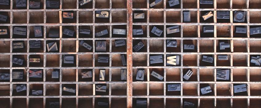 Decorating Ideas:  Vintage Printers Trays   by Scaramanga