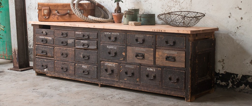A late Victorian carpenter's workbench make a perfect feature piece