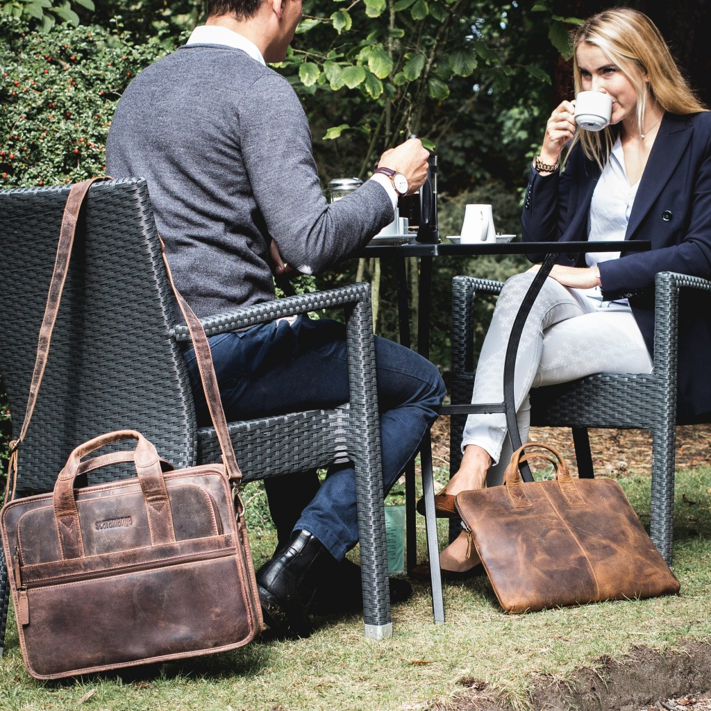 scaramanga leather bags