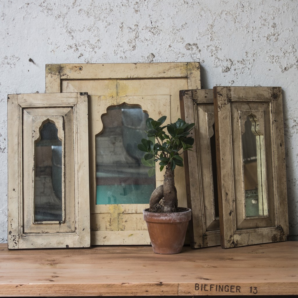 vintage upcycled mirrors